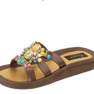 Grandco Mystical Beaded Sandal Size 8